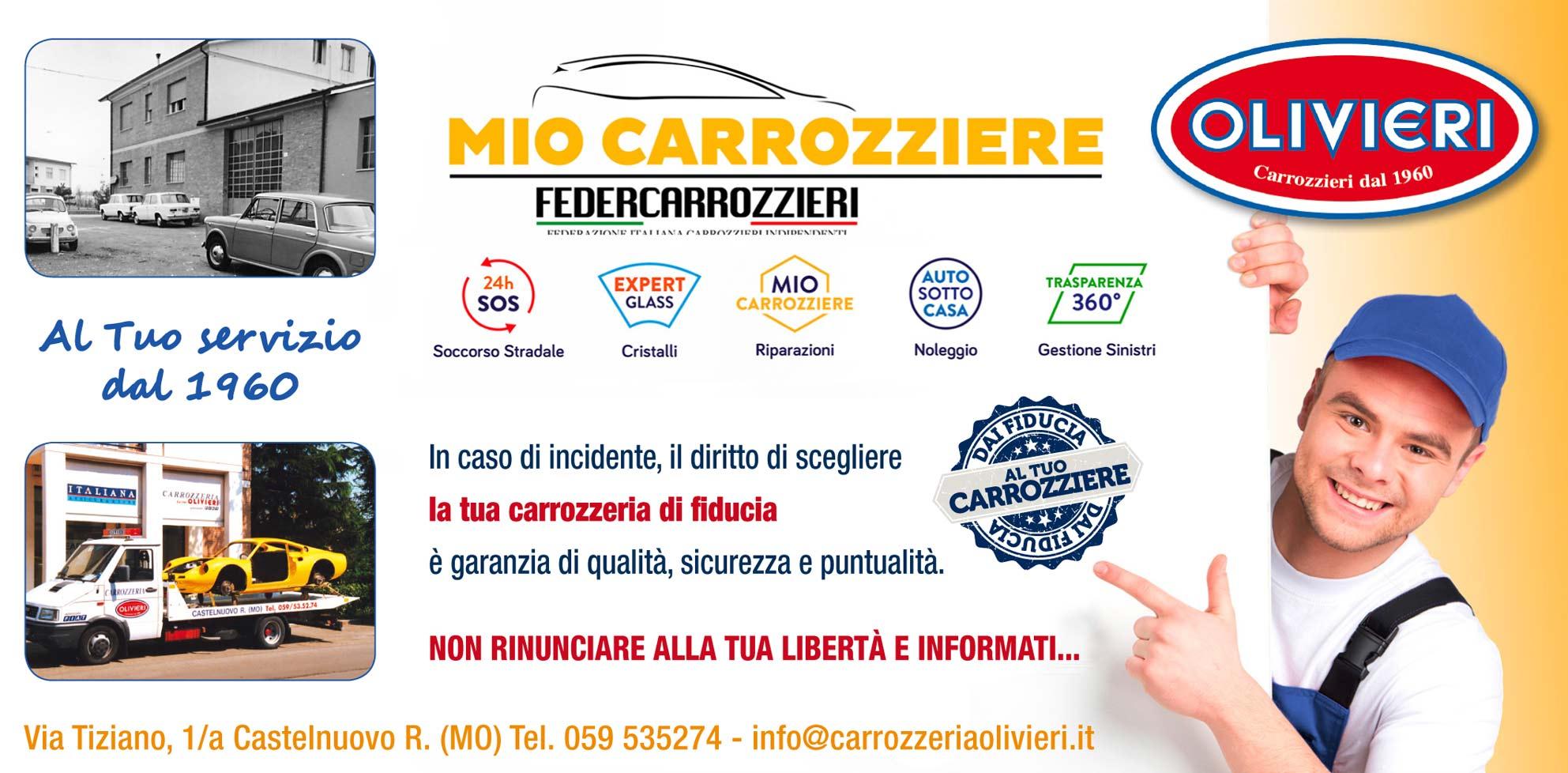 pubblicità carrozzeria olivieri modena